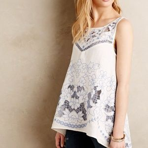 Anthropologie | HD in Paris Bellflower Linen Tunic